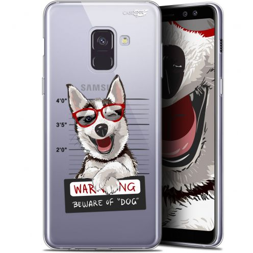 "Coque Gel Samsung Galaxy A8 (2018) A530 (5.6"") Extra Fine Motif -  Beware The Husky Dog"