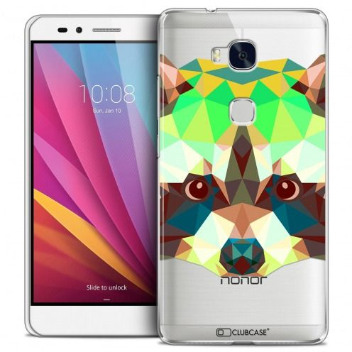 Coque Crystal Honor 5X Extra Fine Polygon Animals - Raton Laveur