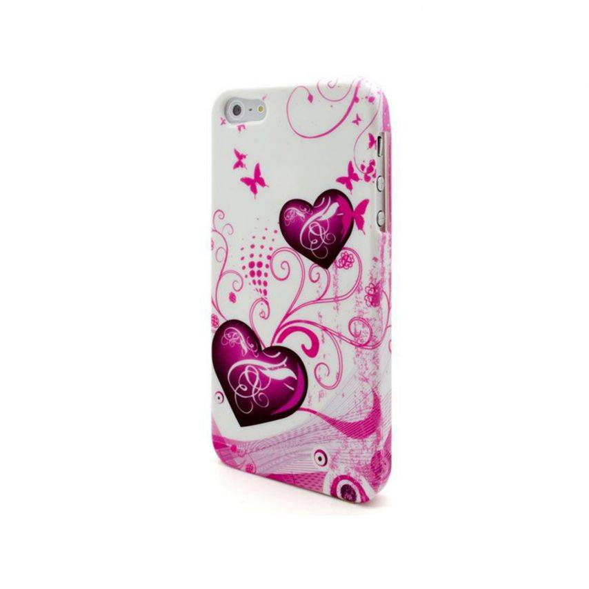 Visuel supplémentaire de Coque iPhone 5 Hearts ABSTRACTION Rose