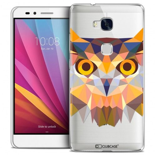 Coque Crystal Honor 5X Extra Fine Polygon Animals - Hibou