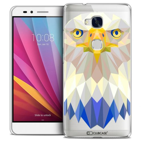 Coque Crystal Honor 5X Extra Fine Polygon Animals - Aigle
