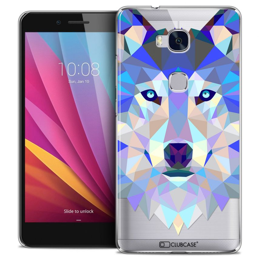 Coque Crystal Honor 5X Extra Fine Polygon Animals - Loup