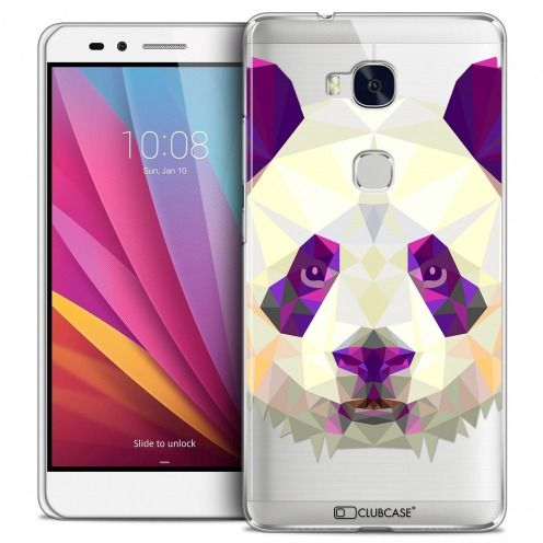 Coque Crystal Honor 5X Extra Fine Polygon Animals - Panda