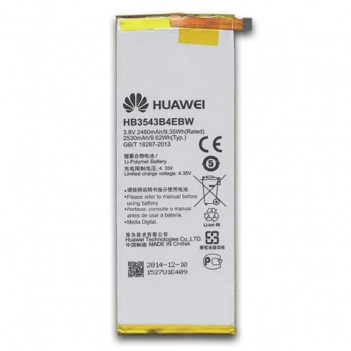 Batterie d'Origine Huawei HB3543B4EBW Pour Ascend P7 (2460 mAh)