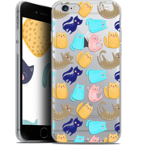 "Coque Gel Apple iPhone 6/6s (4.7"") Extra Fine Motif - Chat Danse"