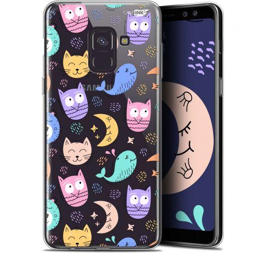 """Coque Gel Samsung Galaxy A8+ (2018) A730 (6"""") Extra Fine Motif - Chat Hibou"""