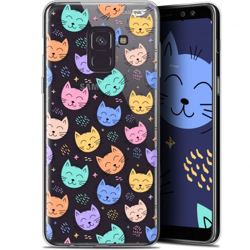 "Coque Gel Samsung Galaxy A8+ (2018) A730 (6"") Extra Fine Motif - Chat Dormant"
