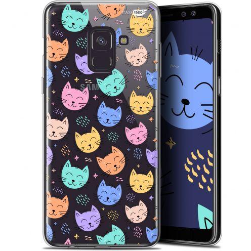 "Coque Gel Samsung Galaxy A8+ (2018) A730 (6"") Extra Fine Motif -  Chat Dormant"
