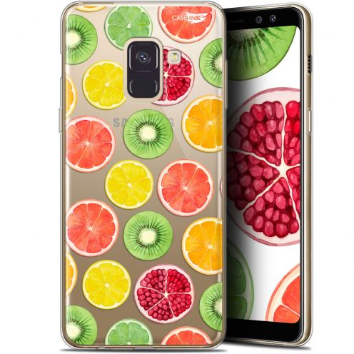 "Coque Gel Samsung Galaxy A8+ (2018) A730 (6"") Extra Fine Motif - Fruity Fresh"