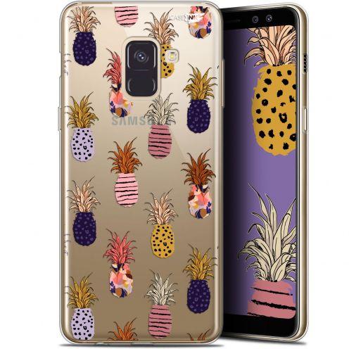 "Coque Gel Samsung Galaxy A8+ (2018) A730 (6"") Extra Fine Motif - Ananas Gold"