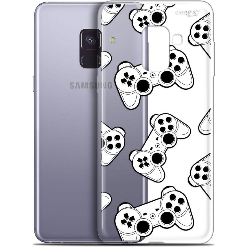 "Coque Gel Samsung Galaxy A8+ (2018) A730 (6"") Extra Fine Motif - Game Play Joysticks"