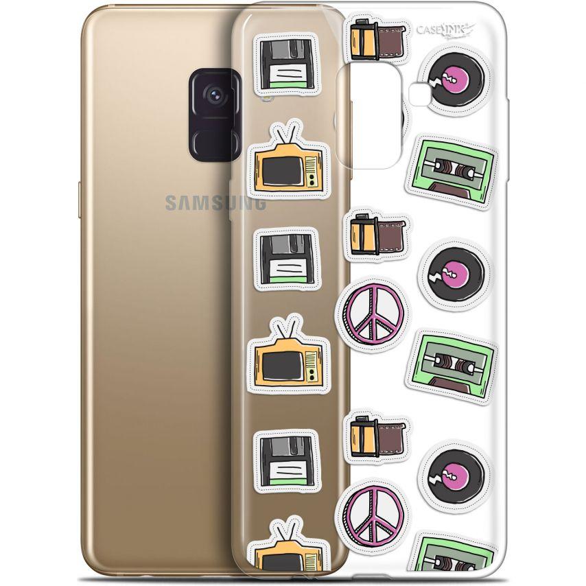 "Coque Gel Samsung Galaxy A8+ (2018) A730 (6"") Extra Fine Motif - Vintage Stickers"