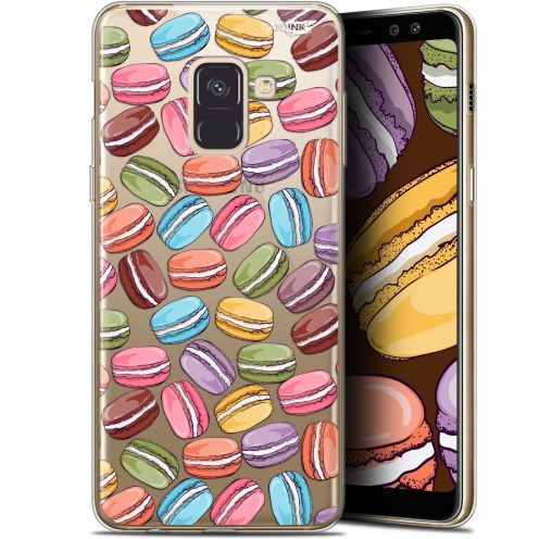 "Coque Gel Samsung Galaxy A8+ (2018) A730 (6"") Extra Fine Motif -  Macarons"