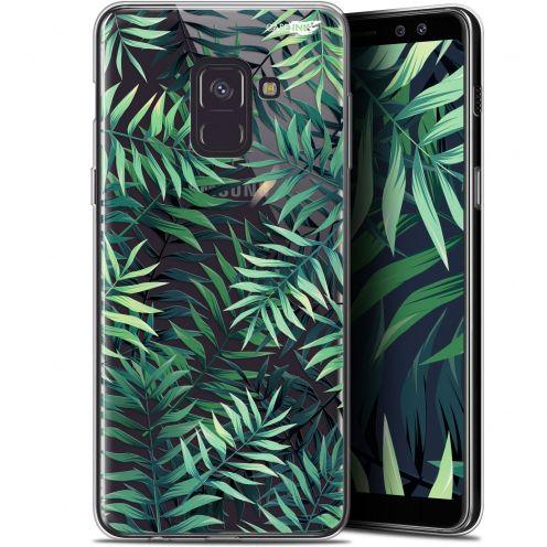 """Coque Gel Samsung Galaxy A8+ (2018) A730 (6"""") Extra Fine Motif - Feuilles des Tropiques"""