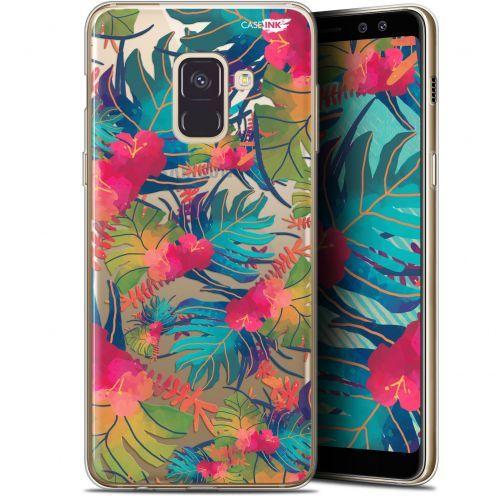 "Coque Gel Samsung Galaxy A8+ (2018) A730 (6"") Extra Fine Motif -  Couleurs des Tropiques"