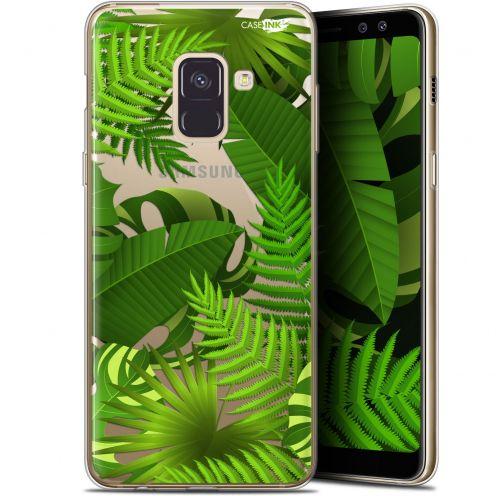 "Coque Gel Samsung Galaxy A8+ (2018) A730 (6"") Extra Fine Motif -  Plantes des Tropiques"