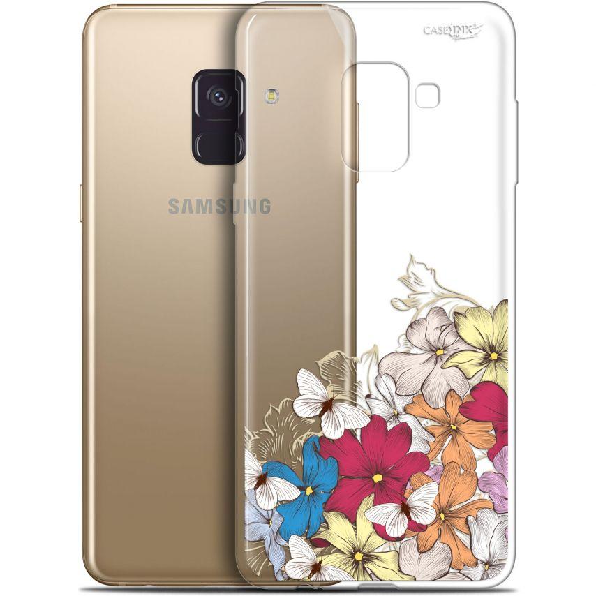 "Coque Gel Samsung Galaxy A8+ (2018) A730 (6"") Extra Fine Motif - Nuage Floral"