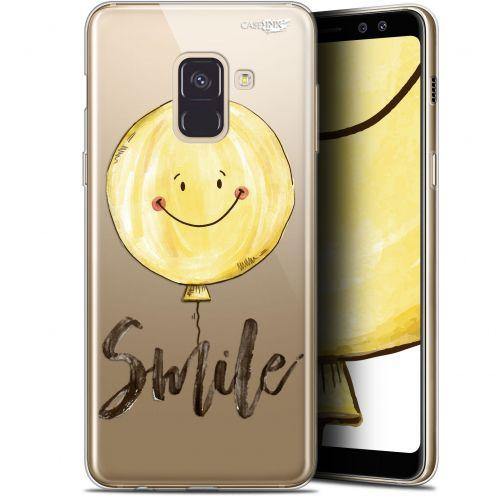 "Coque Gel Samsung Galaxy A8+ (2018) A730 (6"") Extra Fine Motif - Smile Baloon"