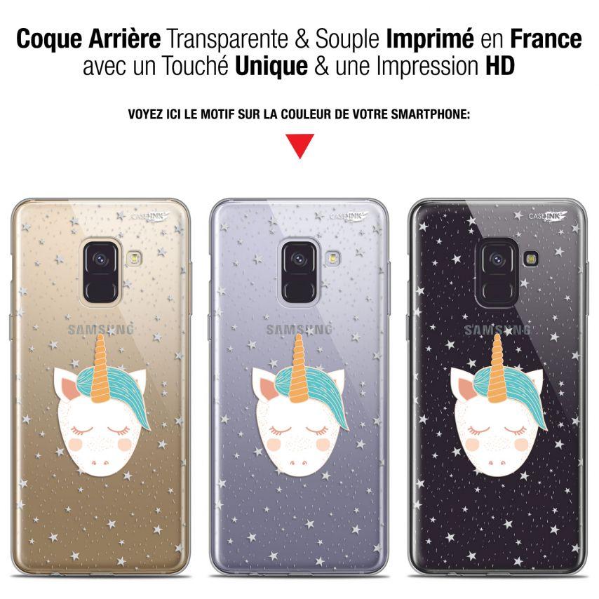"""Coque Gel Samsung Galaxy A8+ (2018) A730 (6"""") Extra Fine Motif - Licorne Dors"""