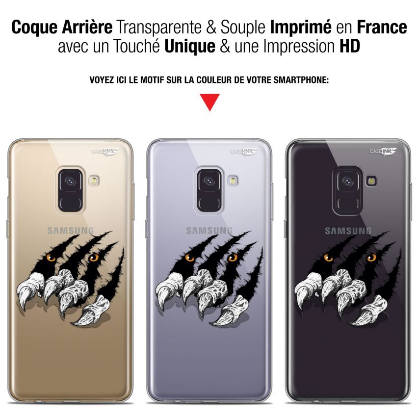 "Coque Gel Samsung Galaxy A8+ (2018) A730 (6"") Extra Fine Motif - Les Griffes"