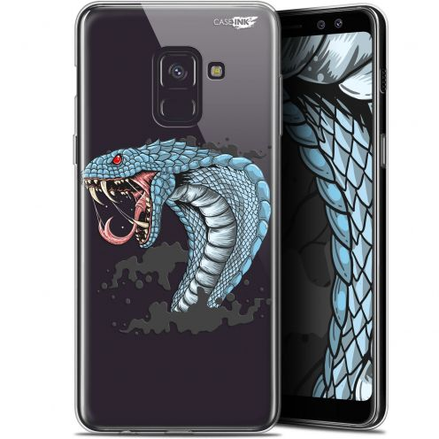 "Coque Gel Samsung Galaxy A8+ (2018) A730 (6"") Extra Fine Motif -  Cobra Draw"