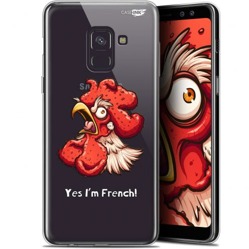 """Coque Gel Samsung Galaxy A8+ (2018) A730 (6"""") Extra Fine Motif - I'm French Coq"""
