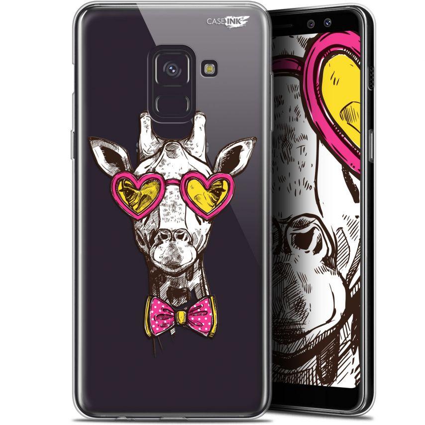 """Coque Gel Samsung Galaxy A8+ (2018) A730 (6"""") Extra Fine Motif - Hipster Giraffe"""