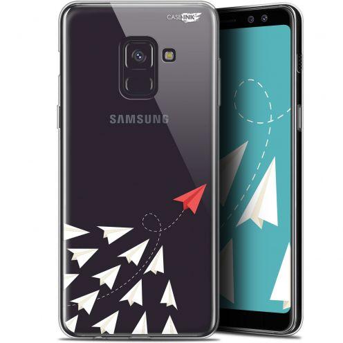 """Coque Gel Samsung Galaxy A8+ (2018) A730 (6"""") Extra Fine Motif -  Papier Volant"""
