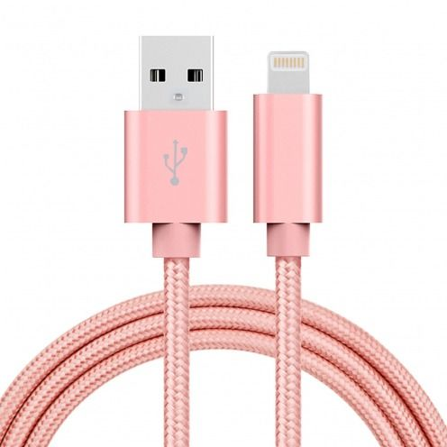 3A Fast Series USB to 8 Pin Cable for iPhone 6s/6/Plus/5/S/C/iPad/iPad Pro – Rose Gold
