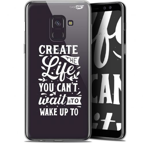 "Coque Gel Samsung Galaxy A8+ (2018) A730 (6"") Extra Fine Motif - Wake Up Your Life"