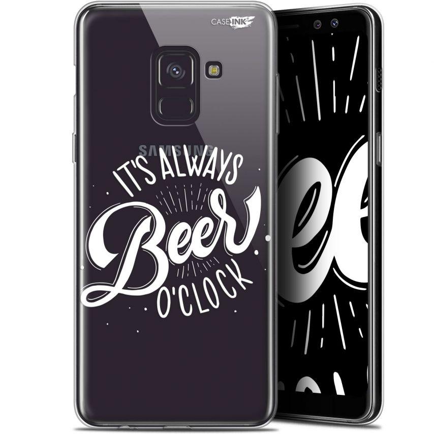 "Coque Gel Samsung Galaxy A8+ (2018) A730 (6"") Extra Fine Motif - Its Beer O'Clock"