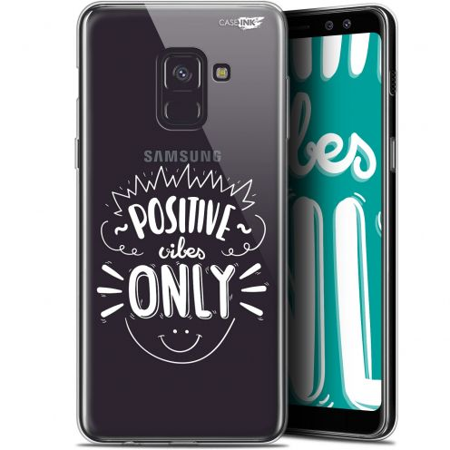 """Coque Gel Samsung Galaxy A8+ (2018) A730 (6"""") Extra Fine Motif -  Positive Vibes Only"""
