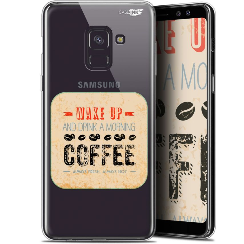 "Coque Gel Samsung Galaxy A8+ (2018) A730 (6"") Extra Fine Motif - Wake Up With Coffee"