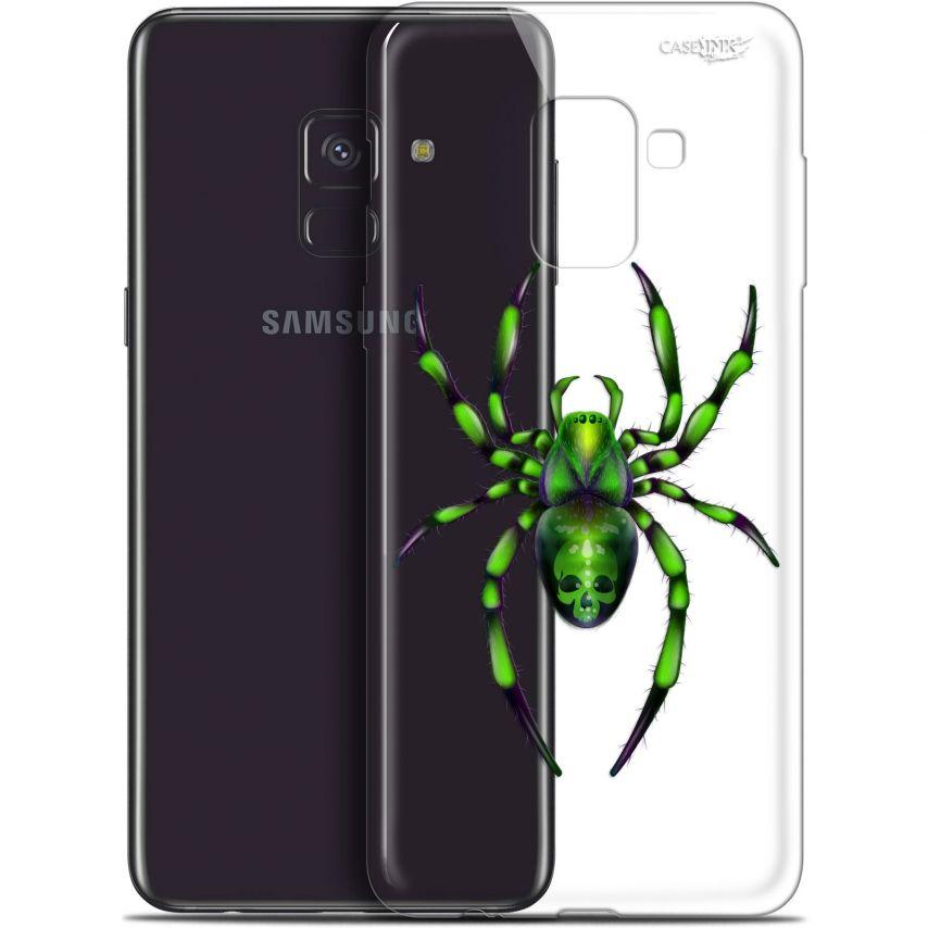 "Coque Gel Samsung Galaxy A8+ (2018) A730 (6"") Extra Fine Motif - Arraignée Verte"