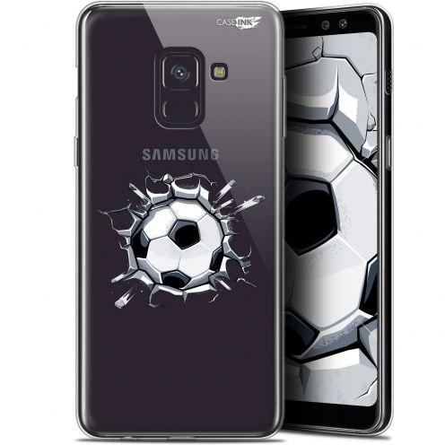 "Coque Gel Samsung Galaxy A8+ (2018) A730 (6"") Extra Fine Motif -  Le Balon de Foot"