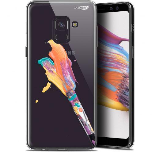 """Coque Gel Samsung Galaxy A8+ (2018) A730 (6"""") Extra Fine Motif - Pinceau de Peinture"""