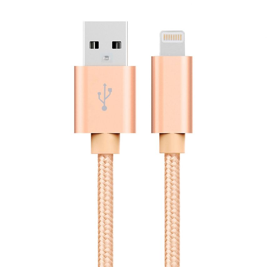 3A Fast Series USB to 8 Pin Cable for iPhone 6s/6/Plus/5/S/C/iPad/iPad Pro – Gold
