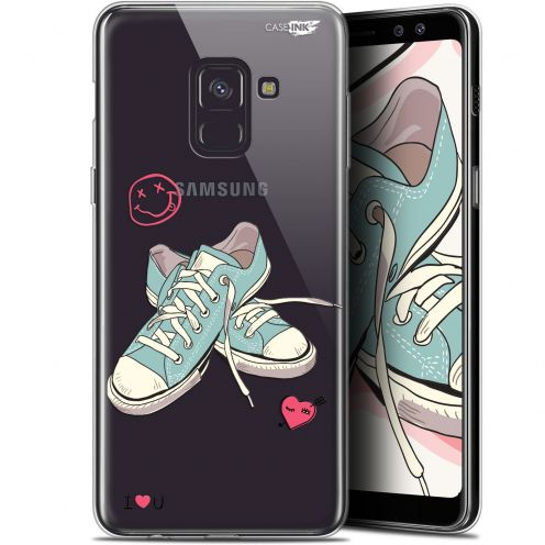 "Coque Gel Samsung Galaxy A8+ (2018) A730 (6"") Extra Fine Motif -  Mes Sneakers d'Amour"
