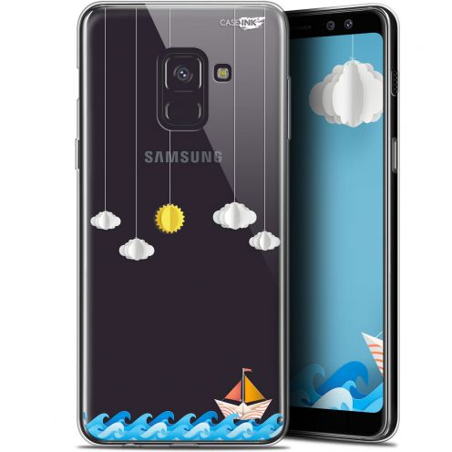 "Coque Gel Samsung Galaxy A8+ (2018) A730 (6"") Extra Fine Motif - Petit Bateau en Mer"