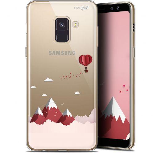 "Coque Gel Samsung Galaxy A8+ (2018) A730 (6"") Extra Fine Motif - Montagne En Montgolfière"