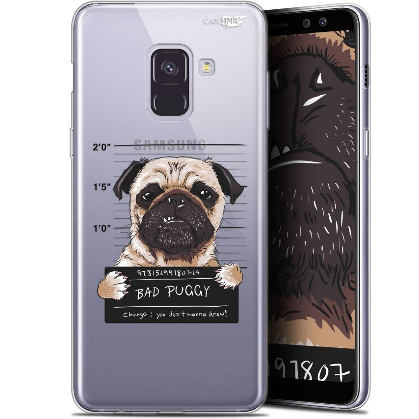 "Coque Gel Samsung Galaxy A8+ (2018) A730 (6"") Extra Fine Motif - Beware The Puggy Dog"