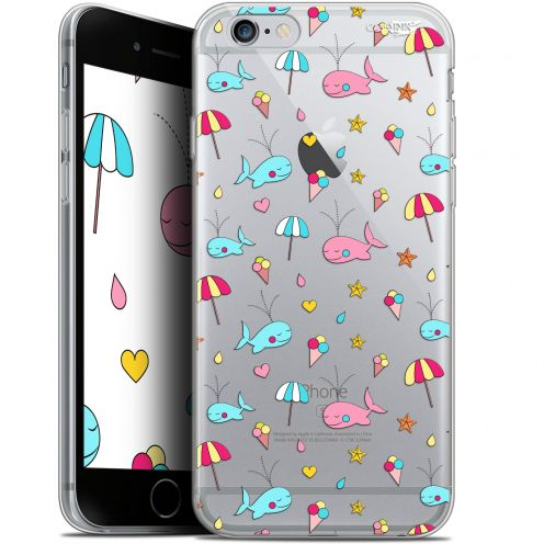 "Coque Gel Apple iPhone 6/6s (4.7"") Extra Fine Motif - Baleine à la Plage"