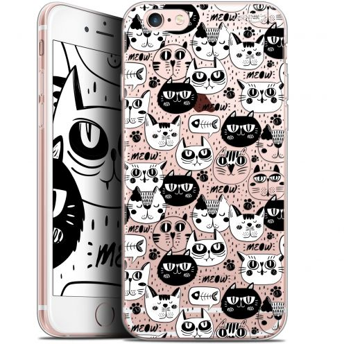 "Coque Gel Apple iPhone 6/6s (4.7"") Extra Fine Motif -  Chat Noir Chat Blanc"