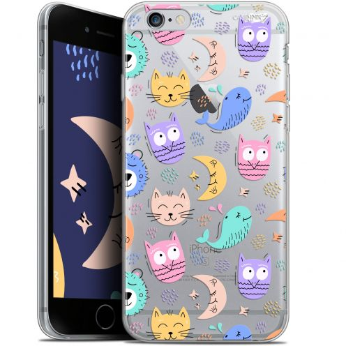 "Coque Gel Apple iPhone 6/6s (4.7"") Extra Fine Motif -  Chat Hibou"
