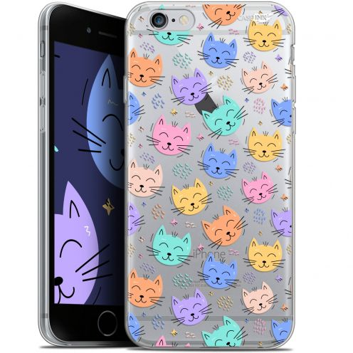 "Coque Gel Apple iPhone 6/6s (4.7"") Extra Fine Motif -  Chat Dormant"
