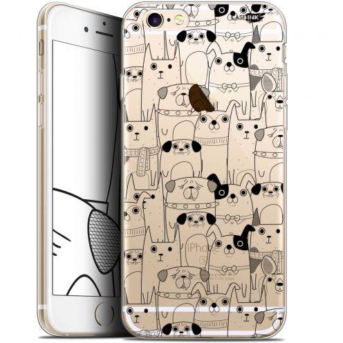"Coque Gel Apple iPhone 6/6s (4.7"") Extra Fine Motif -  Chien Noir"