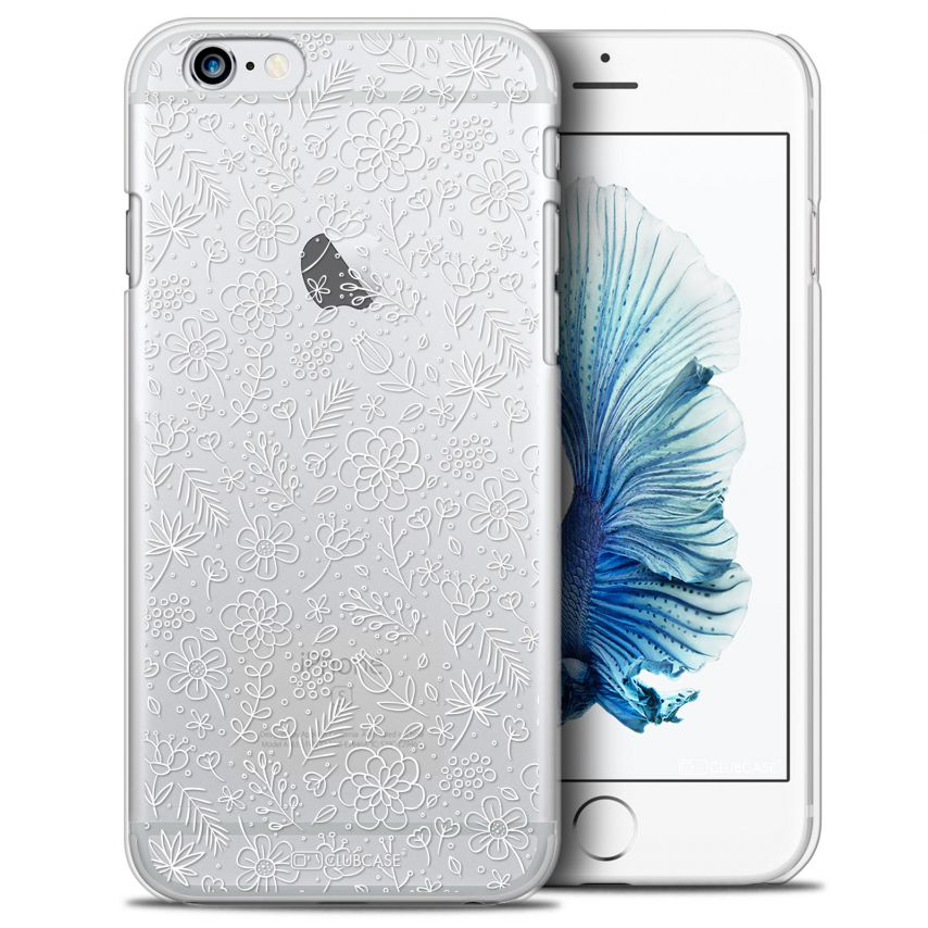 Coque Crystal iPhone 6/6s Plus Extra Fine Summer - Florale Blanche