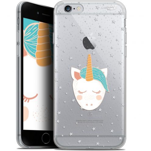 "Coque Gel Apple iPhone 6/6s (4.7"") Extra Fine Motif - Licorne Dors"
