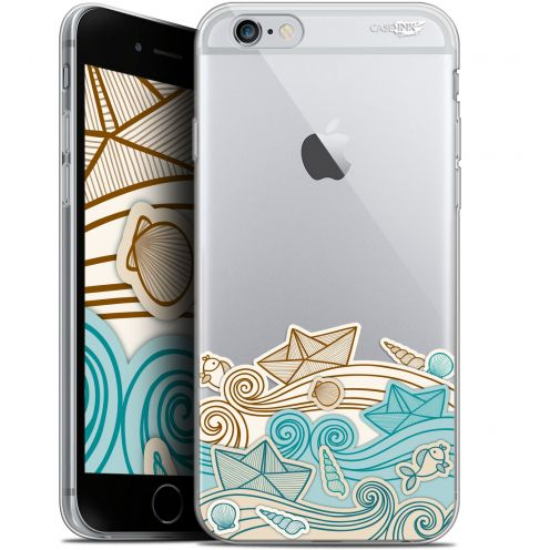 "Coque Gel Apple iPhone 6/6s (4.7"") Extra Fine Motif -  Bateau de Papier"