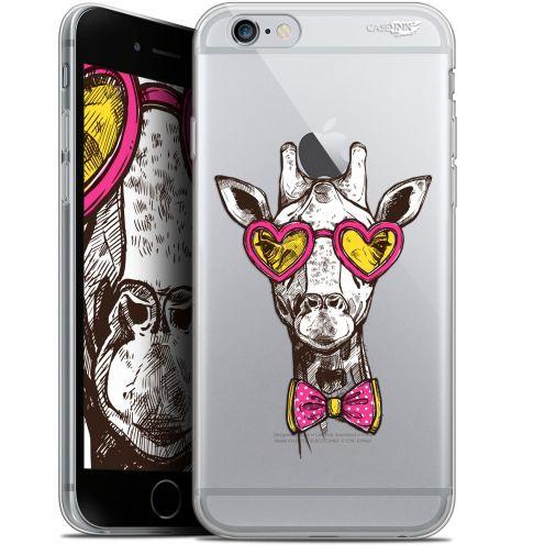 "Coque Gel Apple iPhone 6/6s (4.7"") Extra Fine Motif -  Hipster Giraffe"